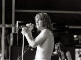 Black Sabbath Singer Ozzy Osbourne Performing on Stage During a Concert, August 1981 Fotografisk tryk