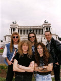 Iron Maiden Heavy Metal Pop Rock Group in Rome 1990s Fotografie-Druck