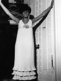 Shirley Bassey Wearing Long White Dress Photographic Print