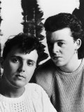 Roland Orzabal and Curt Smith are the Pop Group Tears for Fears Fotografická reprodukce