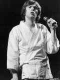 Peter Gabriel During a Solo Concert in Paris Where He Sang to Audience of 200,000, Sept 1977 Fotografická reprodukce
