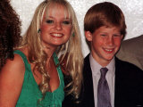 Prince Harry with Spice Girl Baby Spice, During Their Visit to South Africa, November 1997 Fotografisk tryk