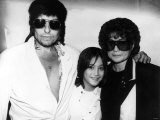 Bob Dylan American Folk Singer and Legend with Yoko Ono and Sean Lennon at Dylan's Party Photographic Print