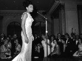 Shirley Bassey Singing Photographic Print