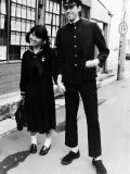 Boomtown Rats in Tokyo Japan Bob Geldof Wearing a Japanese School Uniform Photographic Print