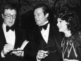 Michael Caine and Roger Moore with Third Wife Luisa, at Film Premiere Shout at the Devil Photographic Print