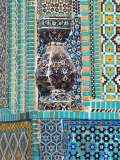 Afghanistan, Mazar-I-Sharif, Shrine of Hazrat Ali, Tile Detail Photographic Print by Jane Sweeney