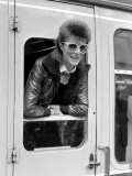 David Bowie Leaning out of Railway Carriage of Paris Boat Train at Victoria Station, July 1973 Photographic Print