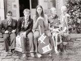 The Young Ones in Bristol, Rik Mayall, Chris Ryan, Nigel Planer, Ade Edmondson, April 1982 Photographic Print