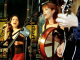 The Corrs, Andrea Corr, Sharon Corr, Live Performance at the Virgin Megastore Belfast, October 1997 Fotodruck