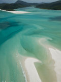 Australia, Queensland, Whitsunday Coast, Whitsunday Islands, Whitehaven Beach, Aerial View Photographie par Walter Bibikow