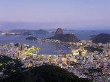 Botafogo and Sugarloaf Mountain from Corcovado, Rio de Janeiro, Brazil Photographic Print by Demetrio Carrasco