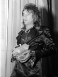 Rod Stewart with His Melody Maker Pop Award, September 1971 Photographic Print