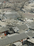 Beijing, Dongcheng District, Rooftop View of Traditional Beijing Hutong Area from Old Drum Tower Photographic Print by Walter Bibikow