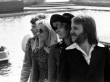 Sweden's Abba Prepare for Eurovision Song Contest in Brighton Fotografiskt tryck