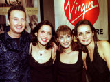 The Corrs Jim, Andrea, Sharon and Caroline after Their Live Performance in Belfast Yesterday Fotografie-Druck