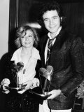 Elaine Paige with David Essex as They Receive Their Variety Club Awards for Evita Fotografie-Druck