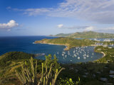 Caribbean, Antigua, English Harbour from Shirley Heights Looking Towards Nelson's Dockyard Photographic Print by Gavin Hellier