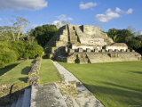 Belize, Altun Ha, Temple of the Masonary Alters Photographic Print by Jane Sweeney