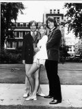 Olivia Newton John Standing Between the Two Other Members of Her Band Called Tomorrow Photographic Print