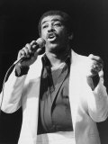 Singer Ben E King at London Palladium, March 1987 Fotografisk tryk