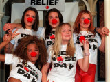 The Spice Girls at the Launch of Comic Relief's Red Nose Day Photographic Print