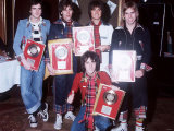 The Bay City Rollers Presented with Gold Discs Photographic Print