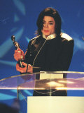 Michael Jackson was Awarded a Special Award for a Generation at the Brit Awards 1996 Photographic Print