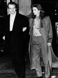 Midge Ure Singer and Member of Ultravox with Wife Annabel Giles Lámina fotográfica