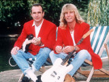Status Quo Rock Band Members Rick Parfitt and Francis Rossi Fotografisk tryk