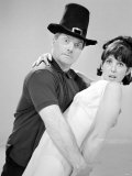 Dick Emery and Una Stubbs Seen Here Rehearsing for the Dick Emery Show, July 1963 Photographic Print