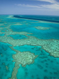 Aerial of the Great Barrier Reef, Photographic Print