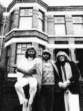 Bee Gees Barry Maurice and Robin Gigg Outside Their Old Home Photographic Print