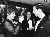 Prince Charles Meeting Chirley Bassey at a Charity Show in Wembley Photographic Print