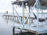 Jetty and Hammocks, Caye Caulker, Belize Photographic Print by Russell Young
