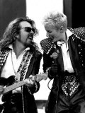 Annie Lennox Singer with Dave Stewart Guitarist Playing Together as the Eurythmics, Mandela Concert Fotografická reprodukce
