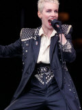 Annie Lennox of Eurythmics at Mandela Concert in Honour of Nelson Mandela's 70th Birthday, June 198 Lámina fotográfica