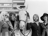 Abba the 1970s Swedish Pop Group Consisting of Benny Frida Bjorn and Anna Fotografiskt tryck