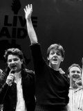 Paul Mccartney with Bono of U2 at Wembley Live Aid Photographic Print