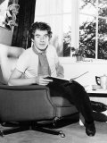 Ian Mckellen Sitting in Chair with a Book on His Lap, October 1969 Lmina fotogrfica