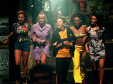 Pop Group Spice Girls Filming in Holborn, June 1997 Fotografie-Druck