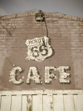 USA, Illinois, Route 66, Litchfield Route 66 Cafe Photographic Print by Alan Copson