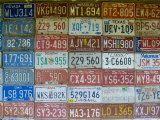 USA, Missouri, Route 66, Near Carthage, Car Number Plates Fotografie-Druck von Alan Copson