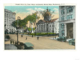 Binghamton, New York - Exterior View of Court House Prints by  Lantern Press