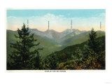 New York - View of Mt. Marcy, Saddleback, Sawtooth, and the Gothic Mts. - Adirondack Mts, NY Prints