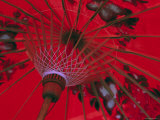 Red Umbrella, Chiang Mai, Northern Thailand Photographic Print by Gavin Hellier