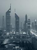 United Arab Emirates, Dubai, Sheik Zayed Road, Emirates Towers Photographic Print by Walter Bibikow