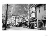 Juneau, Alaska - View of Franklin Street Prints by  Lantern Press