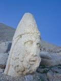 Ancient Carved Stone Head of Zeus, Nemrut Dagi, Unesco World Heritage Site, Turkey Photographic Print by Gavin Hellier