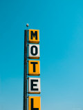 USA, Illinois, Route 66, Broadwell, Old Motel Sign Photographic Print by Alan Copson